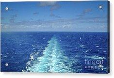 Beyond The Blue Horizon Acrylic Print by Judy Hall-Folde