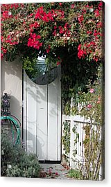 Beyond The Garden Gate Acrylic Print by Suzanne Gaff
