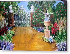 Acrylic Print featuring the painting Beyond The Gate by Saundra Johnson