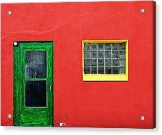 Beyond The Green Door Acrylic Print by Todd Klassy