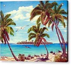 Beyond The Palms Acrylic Print by Riley Geddings