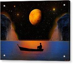 Acrylic Print featuring the photograph Beyond The Stars by Bernd Hau