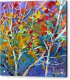 Beyond The Woods - Orange Acrylic Print
