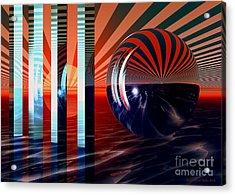 Beyond Tomorrow Acrylic Print by Sandra Bauser Digital Art