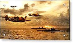Bf 109 German Ww2 Acrylic Print by John Wills