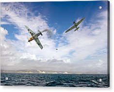 Acrylic Print featuring the photograph Bf109 Down In The Channel by Gary Eason