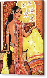 Acrylic Print featuring the painting Bharat by Eva Campbell