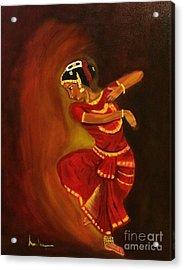 Bharatnatyam Dancer Acrylic Print