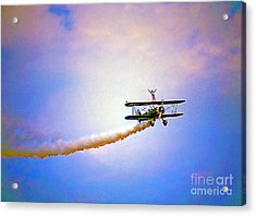 Bi-plane And Wing Walker Acrylic Print