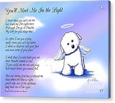 Bichon Frise Angel With Poem Acrylic Print
