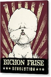 Bichon Frise Revolution Acrylic Print