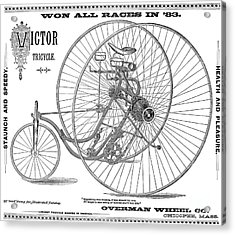 Bicycle, 1884 Acrylic Print by Granger