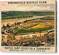 Acrylic Print featuring the photograph Bicycle Camp 1883 by Padre Art