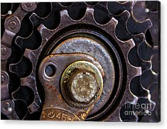 Bicycle Cog Chain Gear Acrylic Print by Photo Captures by Jeffery