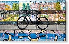 Bicycle Graffiti Acrylic Print by Christos Koudellaris