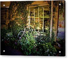 Bicycle In Bloom Acrylic Print by Rosemary McGahey