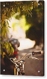 Bicycle In Bozcaada Acrylic Print by Ilker Goksen
