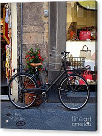 Bicycle In Lucca Acrylic Print