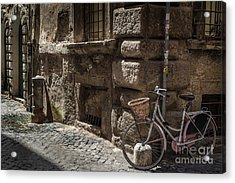 Bicycle In Rome, Italy Acrylic Print