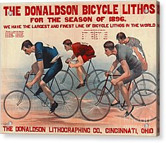 Acrylic Print featuring the photograph Bicycle Lithos Ad 1896 by Padre Art