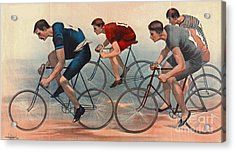 Acrylic Print featuring the photograph Bicycle Lithos Ad 1896nt by Padre Art