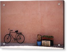Bicycle Marrakech  Acrylic Print by Pauline Cutler