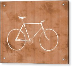 Bicycle On Tile Acrylic Print by Dan Sproul