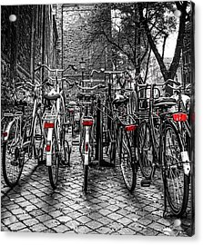 Bicycle Park Acrylic Print
