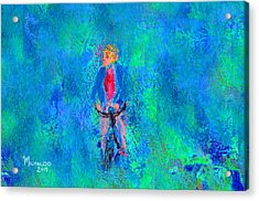 Bicycle Rider Acrylic Print