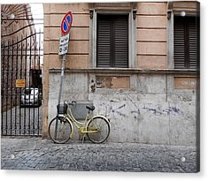 Bicycle Thief Acrylic Print by Michelle Barone