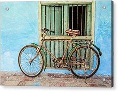 Bicycle, Trinidad Acrylic Print by Brenda Tharp
