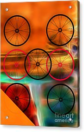 Bicycle Wheel Collection Acrylic Print by Marvin Blaine
