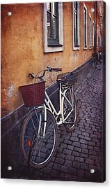 Bicycle With A Basket Acrylic Print by Carol Japp