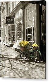 Bicycle With Flowers - Nantucket Acrylic Print