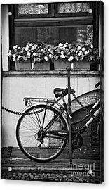 Bicycle With Flowers Acrylic Print by Silvia Ganora