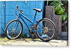 Bicycle With Watermelons Acrylic Print