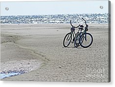 Bicycles On The Beach Acrylic Print