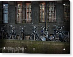 Acrylic Print featuring the photograph Bicycles by Scott Hovind