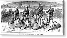 Bicycling, 1873 Acrylic Print by Granger