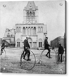 Bicycling, 1880s Acrylic Print by Granger