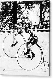 Bicycling Race, C1890 Acrylic Print by Granger
