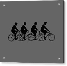 Bicycling T Shirt Design Acrylic Print by Bellesouth Studio