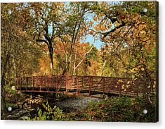 Acrylic Print featuring the photograph Bidwell Park Bridge In Chico by James Eddy