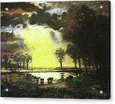 Bierstadt Impression Acrylic Print by Nils Bifano