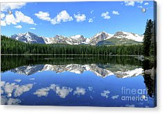 Bierstadt Lake In Rocky Mountain National Park Acrylic Print by Ronda Kimbrow