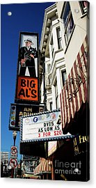 Big Al's Acrylic Print by Mary Capriole