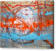 Acrylic Print featuring the painting Big Bang by Mordecai Colodner