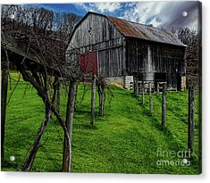 Big Barn Acrylic Print by Elijah Knight