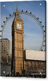 Big Ben And Eye Acrylic Print by Donald Davis