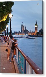 Big Ben And Houses Of Parliament Viewed Acrylic Print by Panoramic Images